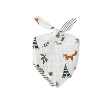 Load image into Gallery viewer, Cotton Muslin Reversible Bandana Bib - Forest Friends
