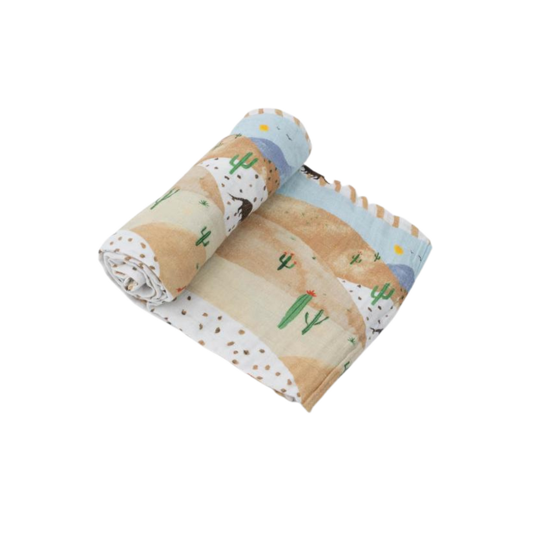 Cotton Muslin Swaddle Single - Desert Hills