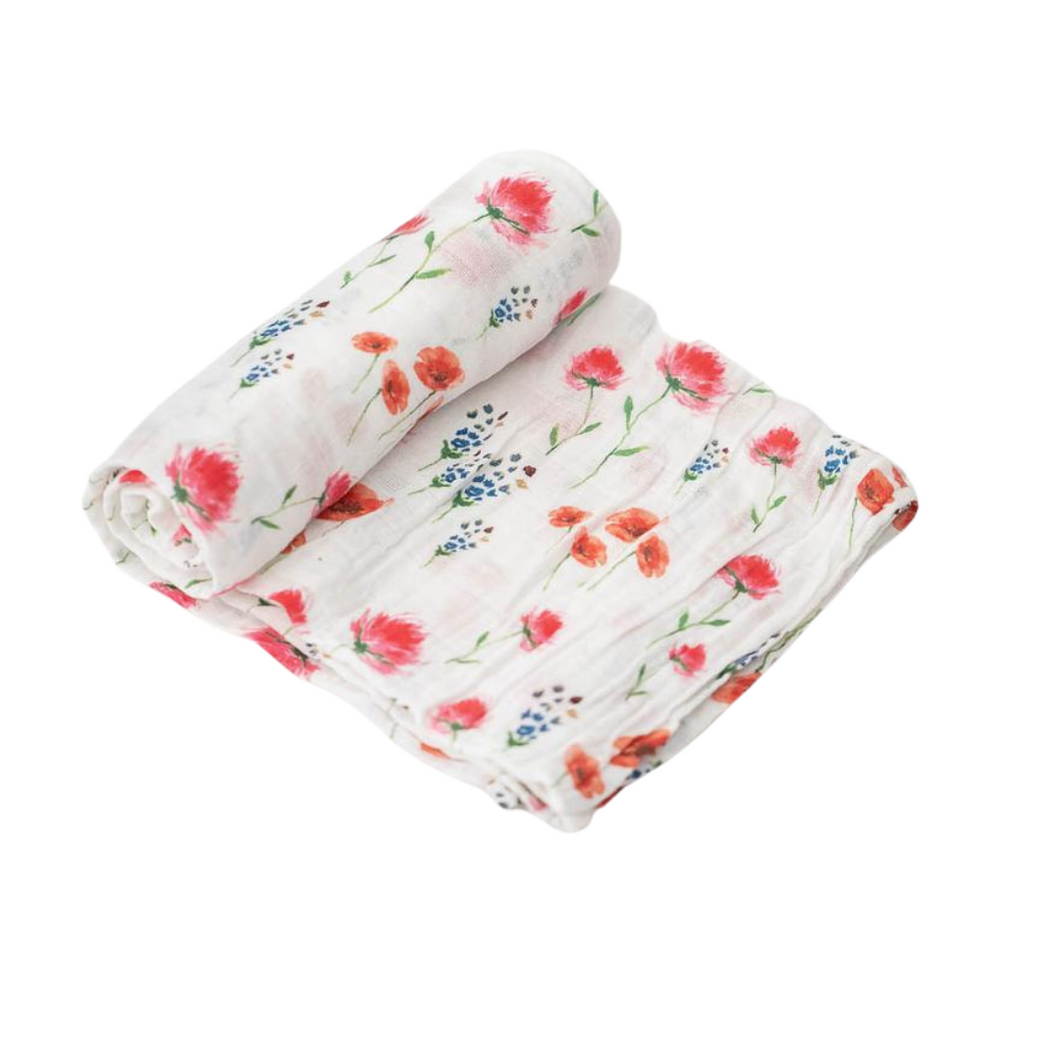 Cotton Muslin Swaddle Single - Wild Mums