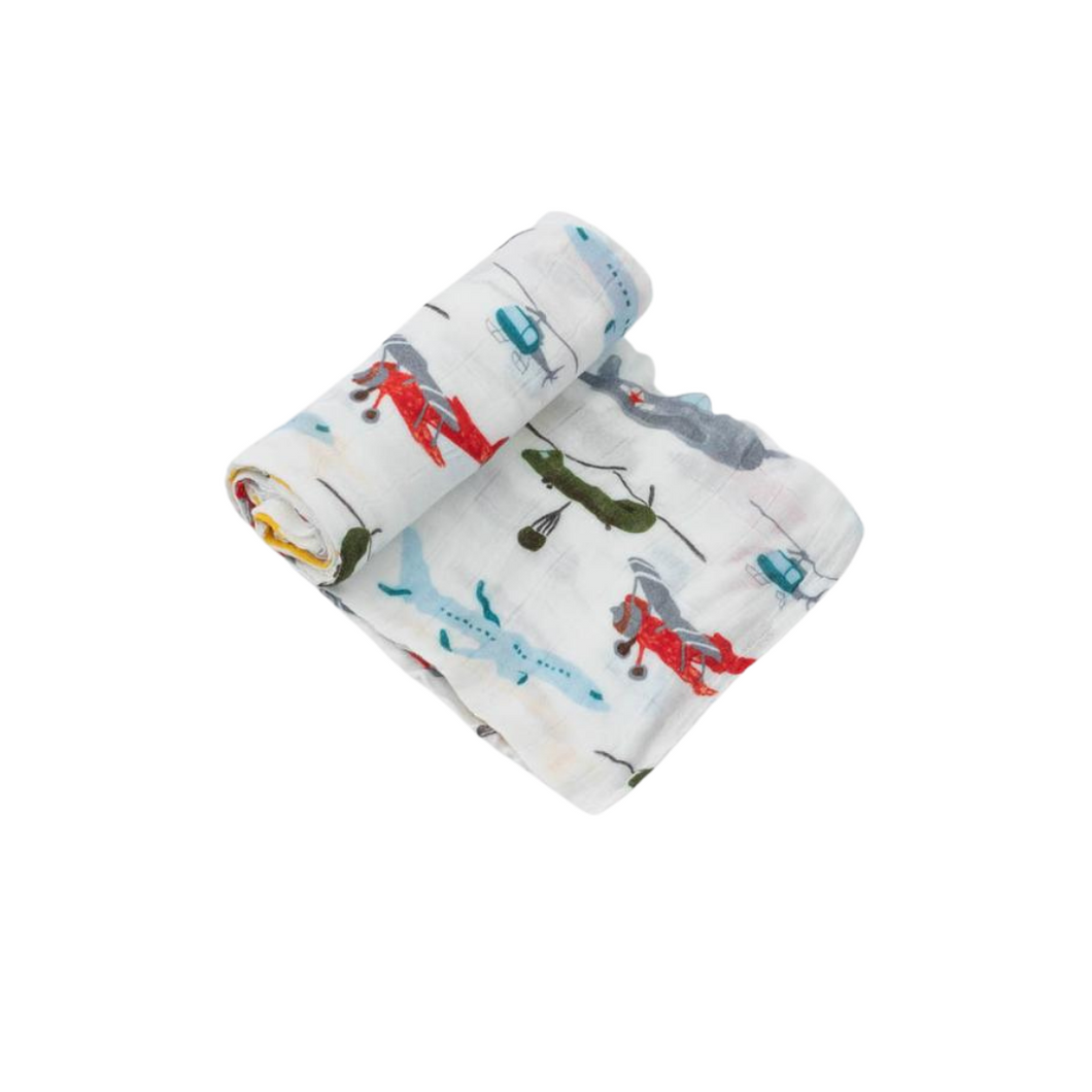 Deluxe Muslin Swaddle - Air Show