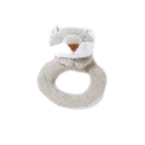 Grey Fox Ring Rattle
