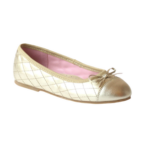 Gold L'Amour Quilted Upper Flat