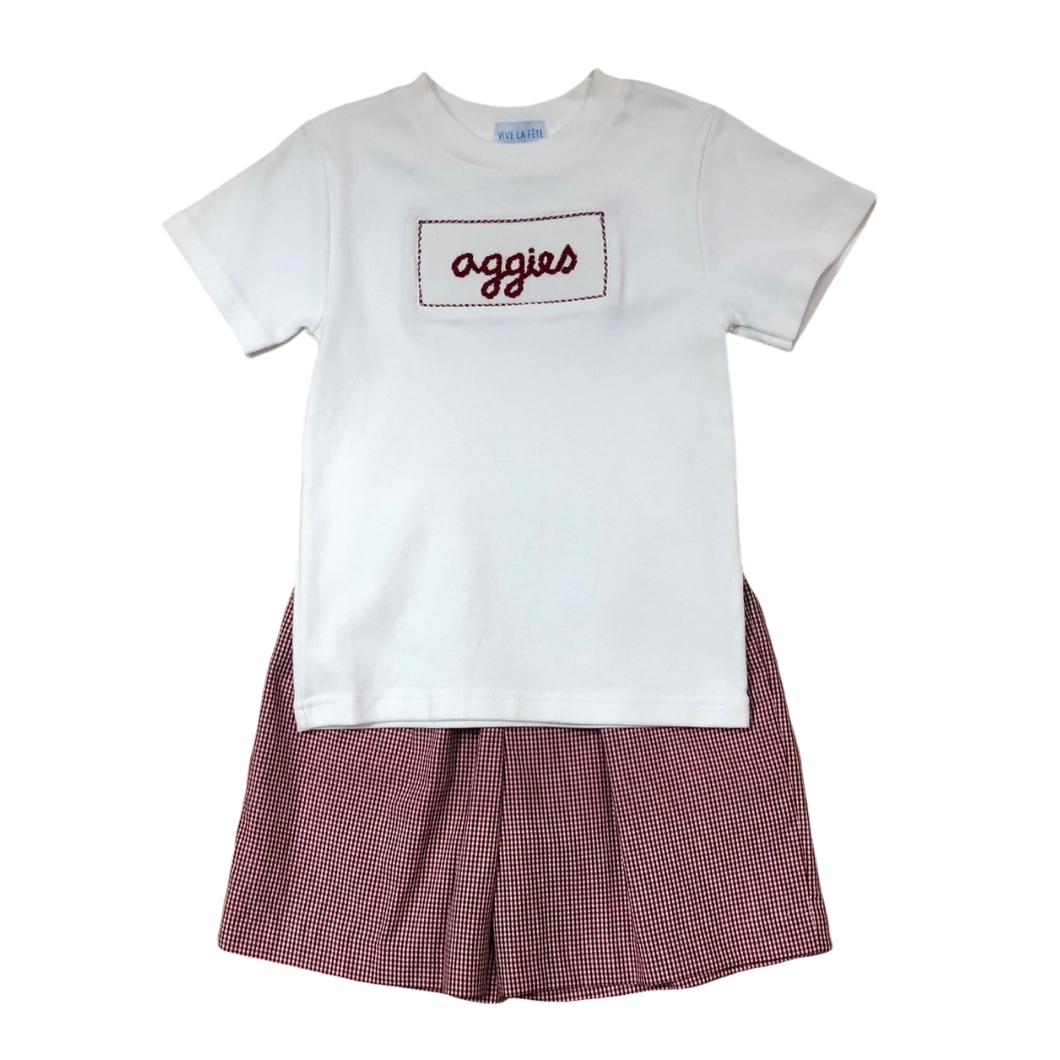 A&M Smocked Tee & Shorts