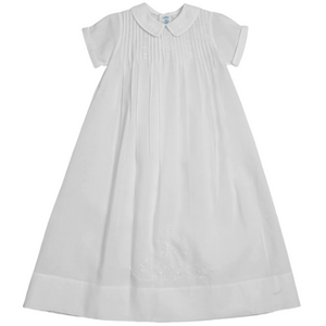 Embroidered Collar Christening Gown with Hat