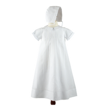 Load image into Gallery viewer, Embroidered Collar Christening Gown with Hat