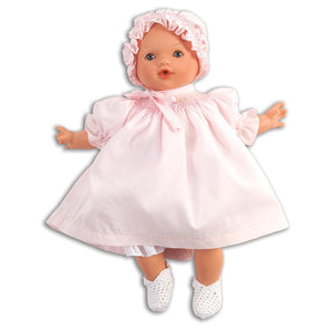 Abby Doll with Blue Eyes & Smocked Bishop & Bonnet