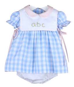 Cape Check ABC Dress