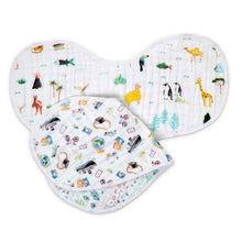 Load image into Gallery viewer, Classic Burpy Bibs 2 Pack - Around the World