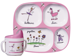Ballerina Tray & Cup Set