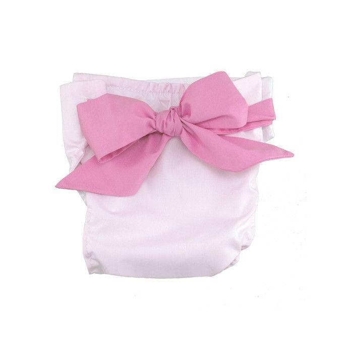 Baby Bow Bottom Bloomer Palm Beach Pink with Hampton Hot Pink