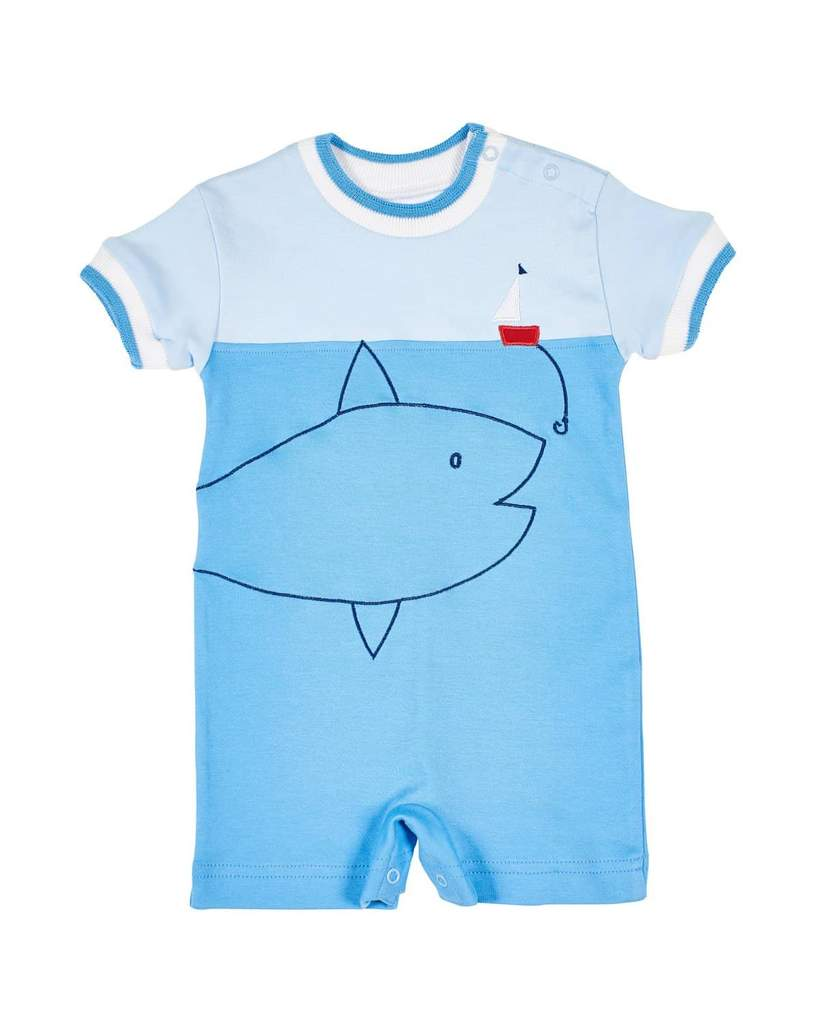 Boys Romper with Big Fish