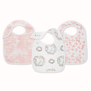 Classic Snap Bibs 3 Pack - Bird Song