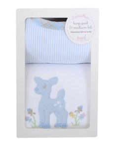 Boxed Bib And Burp Gift Sets - Assorted