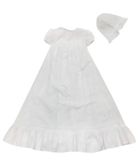 Pleated Christening Set