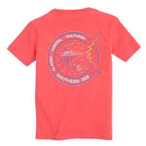 Red Short Sleeve Classic Coastal Swim Away T-Shirt