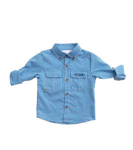 Diving Hole Vent Back Windowpane Shirt