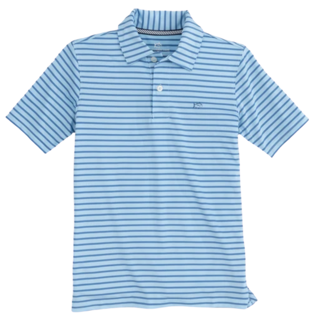 Endless Blue Stripe First Mate Performance Polo