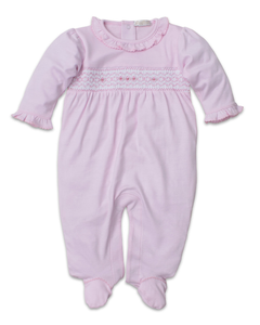 CLB Fall 19 Pink Footie With Smocking