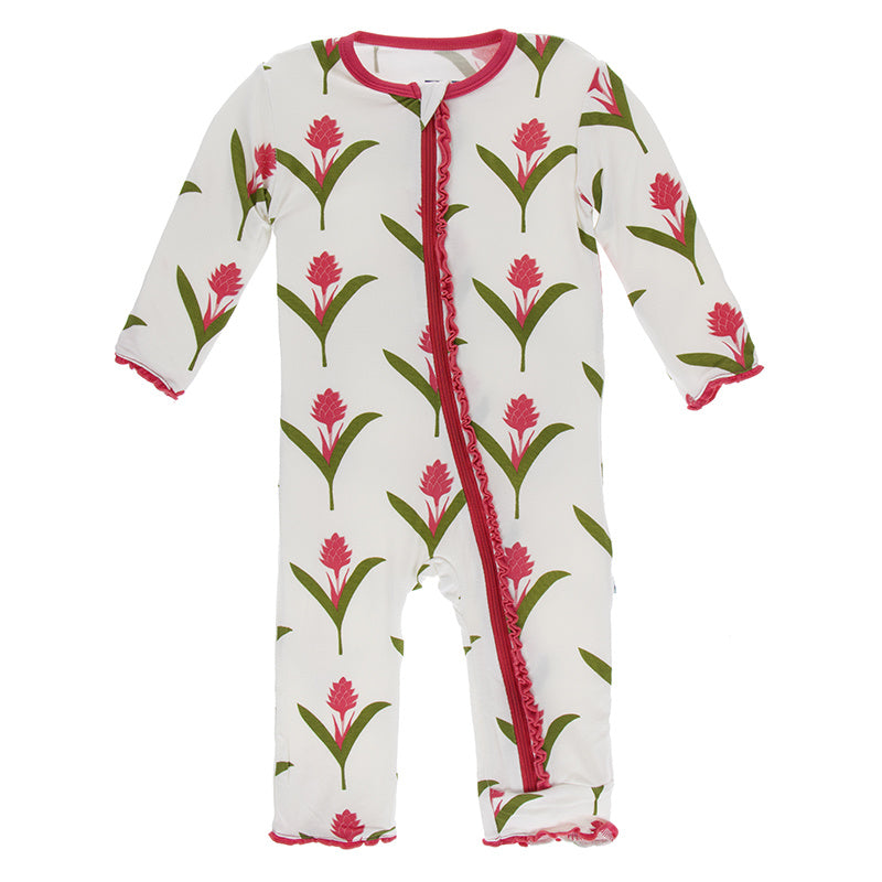 Red Ginger Flower Coverall