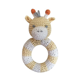 "Giraffe Ring 5"" Rattle"
