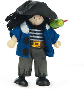 Jolly Pirate with Parrot