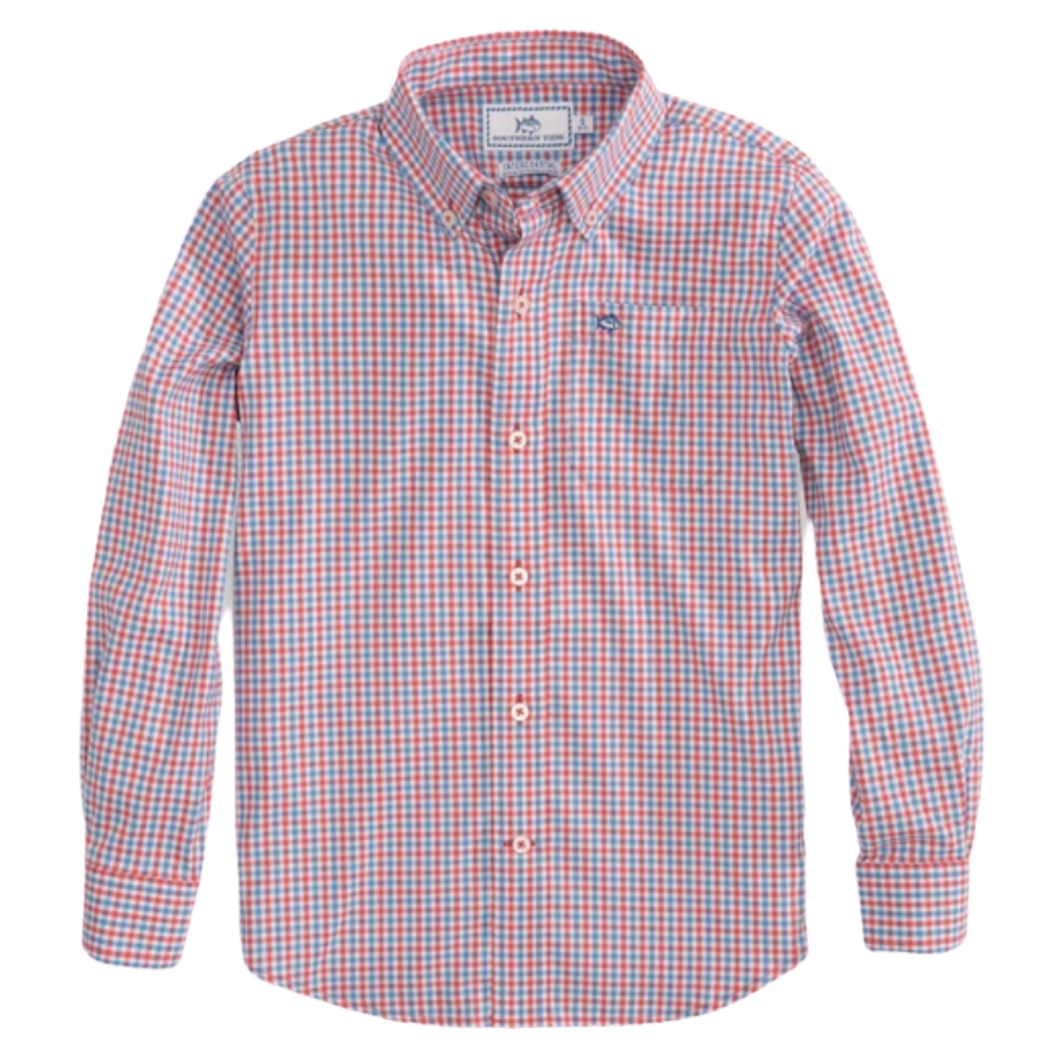 Mango Leeway Gingham Button Down Sportshirt