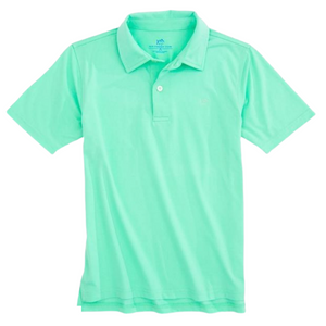 Offshore Green Heathered Performance Polo