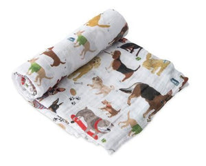 Cotton Muslin Single Swaddle - Woof