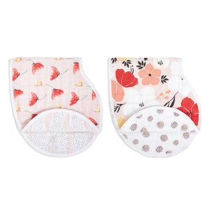 Classic Burpy Bibs 2 Pack - Picked For You Poppies