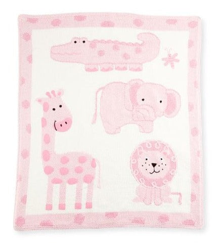 Pink Jungle Baby Blanket