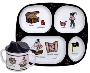 Pirate Tray & Cup Set