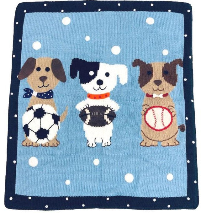 Playful Puppies Blanket