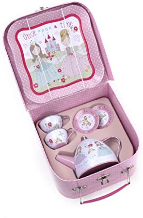 Seven Piece Princess Tin Tea Set