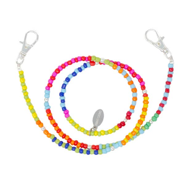 Rainbow Bead Kids Face Mask Chain