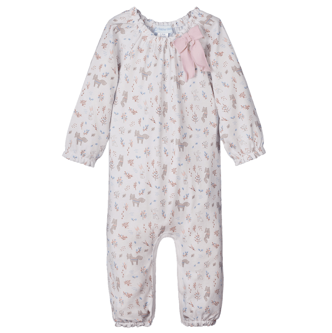 Foxes & Bunnies Bow Romper