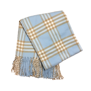 Blue Plaid Receiving Blanket