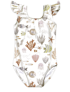 Sea Life Frill One Piece Swimsuit