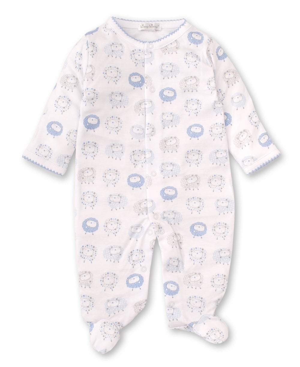 Shabby Sheep Blue Footie