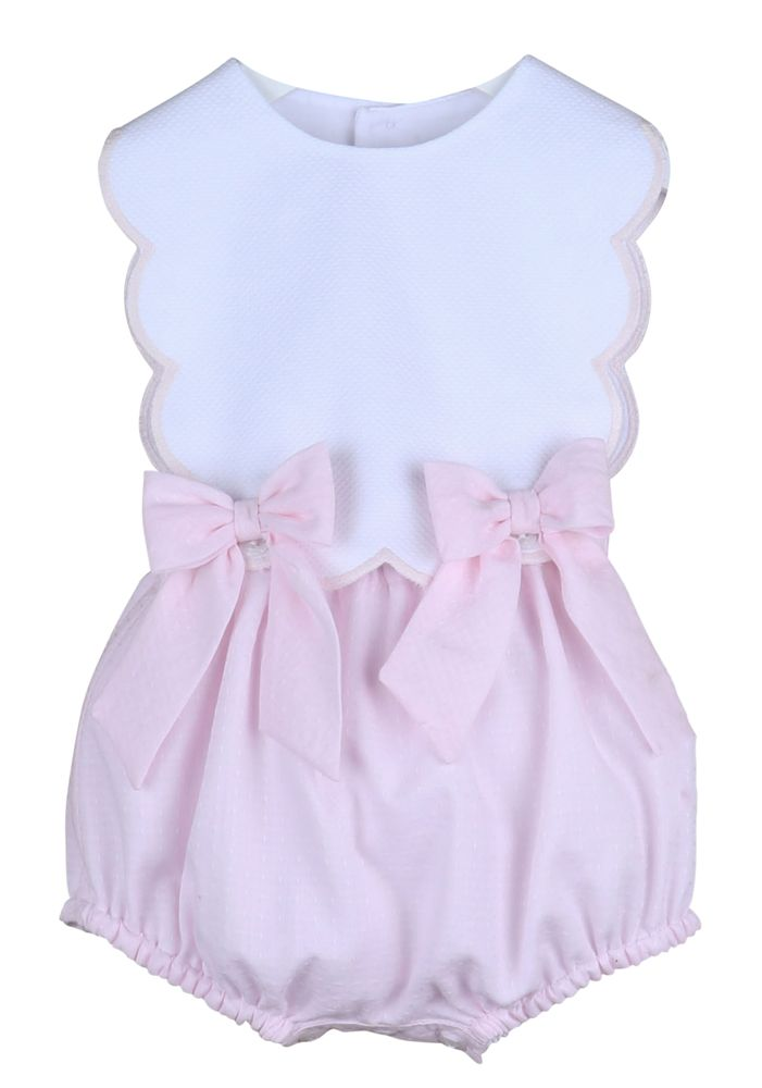 Sherbert Girl Pink Scallop Bubble with Bows