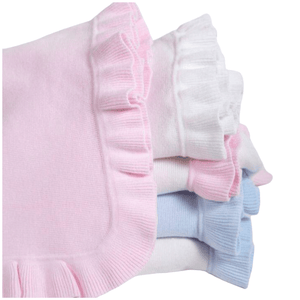 Jersey Knitted Ruffled Blanket