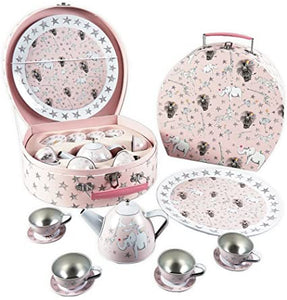 Eleven Piece Party Animal Tin Tea Set