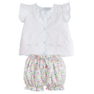 Tea Blouse With Bow Bloomer