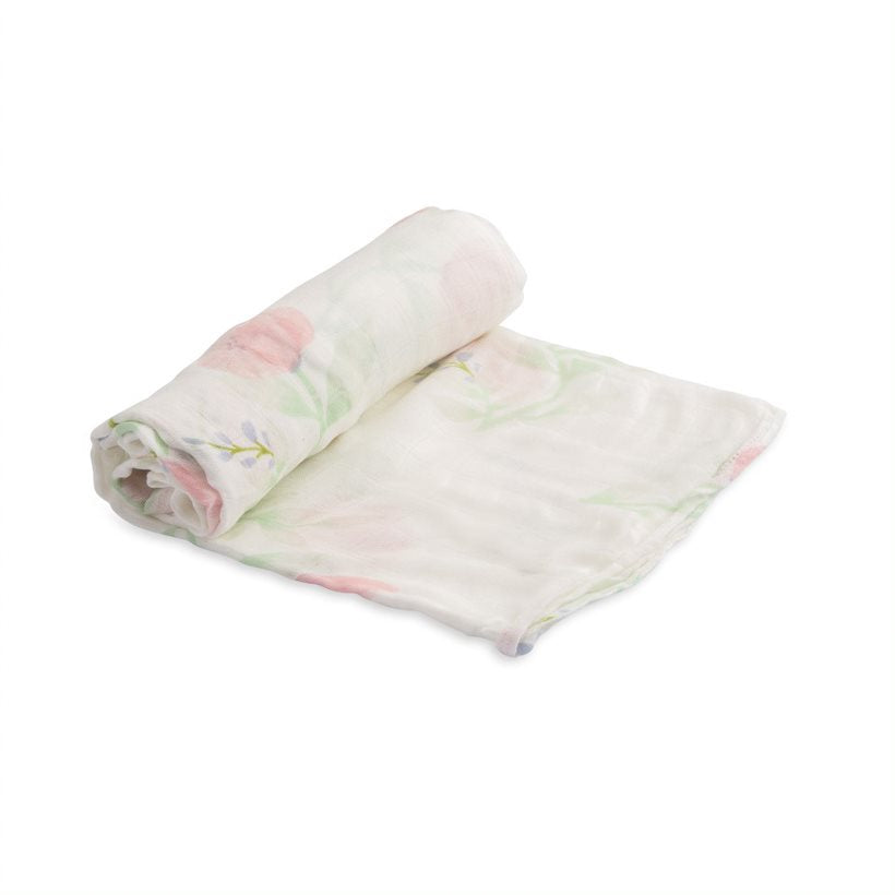 Deluxe Muslin Swaddle Single - Pink Peony