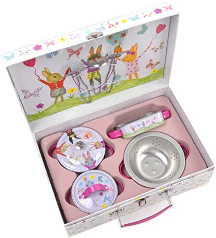 Kitchen Bunny Nine Piece Tin Set