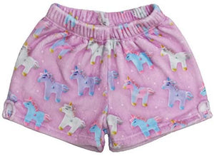 Unicorn & Stars Plush Shorts