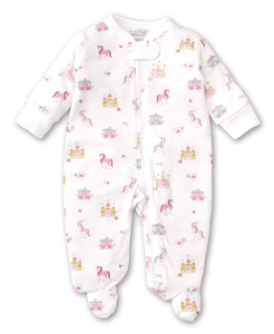 Unicorn Castle Footie with Zipper