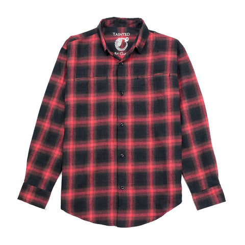 Red Black Checked Flannel Shirt Plaid