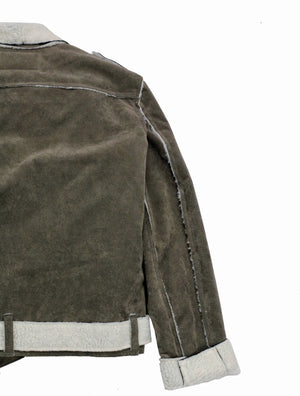 Suede Perfecto Jacket Taupe Shearling