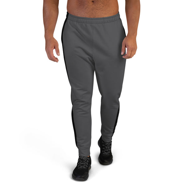 Black Fin Stripe Men's Joggers