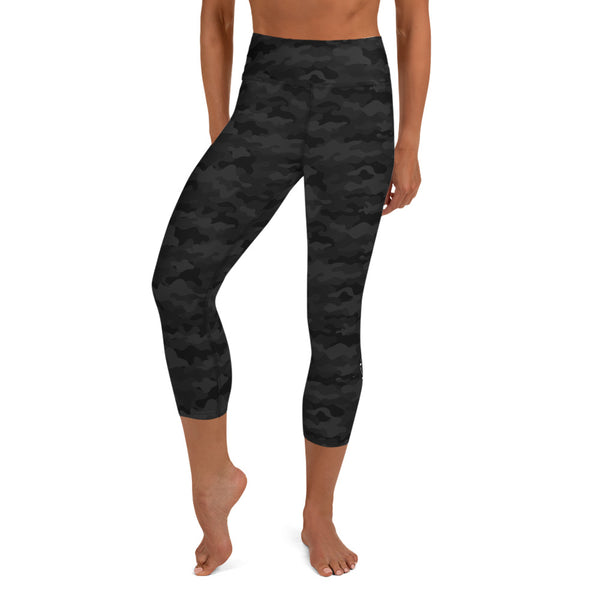 Black Camo Capri Leggings
